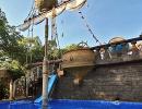 бассейн детский в парковой зоне